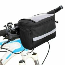 HOT Bicycle Handlebar Basket Bag Bike Reflective Front Pannier Tube Waterproof