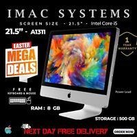 "APPLE IMAC A1311 21.5"" MID 2011 INTEL CORE i5 RAM 8GB 500GB HDD WEBCAM FREE POST"