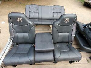 Black Leather Dodge Ram Extended Cab Seats 2001 2500 3500 1500 1994-2002 Gen 2
