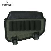 TOURBON Nylon Rifle Shotgun Butt Stock Comb Raiser Ammo Pouch Holder Cheek Rest