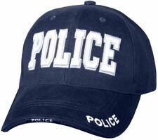 POLICE Cap Navy Blue Low Profile Adjustable Raised Embroidery 9489