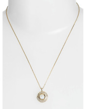Melinda Maria 15156 Jade Pave Moonstone And Gold Pendant Necklace
