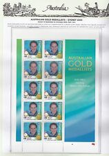 Sydney 2000 Olympics, Gold Medallists, Litho Set 16 SG 2027B/42B on SS Pages