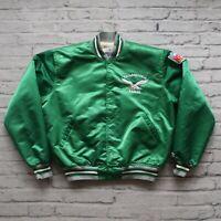 Vintage 90s Philadelphia Eagles Satin Jacket by Starer Size XL