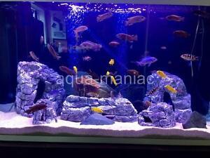3D Rock Cave Decoration For Fish Tank Terrarium Match Our 3D Grey Backgrounds