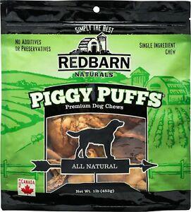 RedBarn Pork PIGGY PUFFS 1 Pound Bag Naturals Dog Treats & Dental Chews Cheek