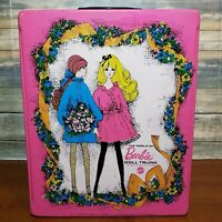 1968 The World Of Barbie Doll Trunk Mattel Hot Pink Vintage