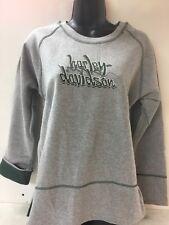 Harley-Davidson Women's L/S Sweatshirt Gray w/ green Super cute Large