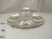 RARE VICTORIAN HM STERLING SILVER INKWELL 1871 N.R.A PRIZE