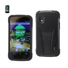 LG Nexus 4 Case Hybrid Heavy Duty Shockproof Protective Cover w/ Kickstand Black