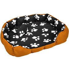 Lit douillet pour chiens panier corbeille couchage XXL brun/noir