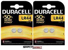 4 x Duracell LR44 1.5V Alkaline Button Cell Batteries LR 44 A76 AG13 357
