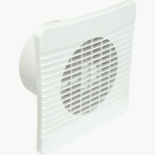 "Extractor Fan 6"" 150mm with Timer Airvent for Kitchen/Large Bathroom Wall White"