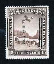 Newfoundland #211 15 Cent Brown L & S Post Overprint MNH