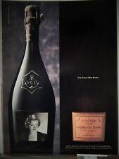 VUEVE CLICQUOT LA GRANDE DAME CHAMPAGNE MYRNO LOY VTG 1996 ADVERTISEMENT