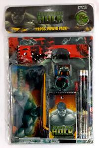 Incredible Hulk 11 Pcs: Folders,Notebook,Notepad,Pencils,Ruler,Eraser,Sharpener.