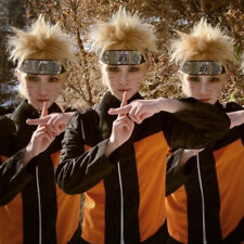Naruto Uzumaki Golden Yellow Wig Hairpiece Cosplay Costume Accessory Short Wig