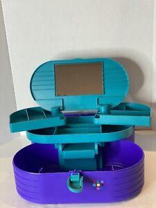 Vintage CABOODLES Storage Purple Organizer Case Makeup Cosmetic 80s 3 Tier