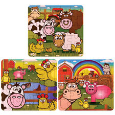 6 Farm Jigsaw Puzzles - Pinata Toy Loot/Party Bag Fillers Wedding/Kids