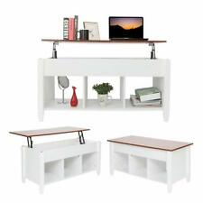 Lift Top Coffee Table Modern End Table Desk w/ Hidden Compartment Storage Shelf