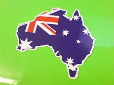 BANDIERA AUSTRALIA & Mappa Casco Moto Auto Van Paraurti Adesivo Decalcomania 1 Largo 80mm