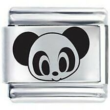 PANDA BEAR FACE * Daisy Charms Fits Nomination Classic Italian Charm Bracelet