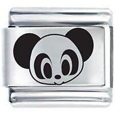 Oso Panda Cara * Daisy Encantos de Nominación Clásica italiana pulsera con dijes se ajusta