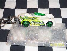"Hot Wheels: Custom Key Chain, White Jaguar? ""MONOPASTO"" race car, 1:64"