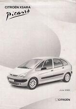 Citroen Xsara Picasso Specification 2000-01 UK Market Foldout Brochure LX SX
