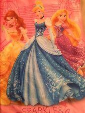 Disney Princess Rapunzel, Belle, Cinderella Girls Pink Sleeping Bag W/ Backpack