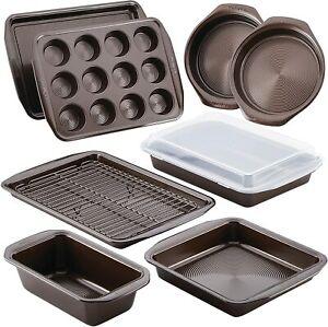 Bakeware Set Bake Pan Baking Cookware Tools Accessories Non Stick Steel 10 Piece