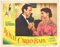 MONTE CARLO BABY LOBBY CARD 11X14 Size Movie Poster Card #7 AUDREY HEPBURN