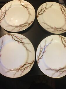 """1960's Kent China Side Plates, Set Of 4, Spring Willow 6.5"""""""