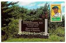 Jackie Robinson 1st Day Issue Stamp Postcard Cooperstown NY (C)