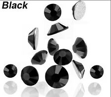 1440pc SS3 Crystal Black Flatback Rhinestone 3ss Super Shinny Rhinestones 1.3mm