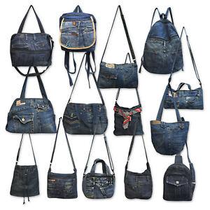 Jeanstasche Shopper Rucksack Sling Crossbag Gürteltasche a. Jeanshosen upcycling