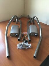 FORD FALCON DUAL EXHAUST SYSTEM suit XR-XT-XW-XY  1966-1972 WITH LUKEY MUFFLERS