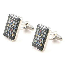 Coloured Smart Phone Cufflinks With Gift Pouch Smartphone Iphone Samsung New