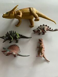 Dinasours Mixed Lot Imperial 1985 Made In Hong Kong Taiwan 6-10""