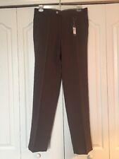 Peter Millar Flat Front Golf Pants -Chocolate Brown -Waist 34 Inseam 34 NWT-$125