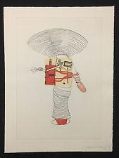 Nanne Meyer, ohne Titel, Farbradierung mit Collage, 2002, handsigniert und dat.