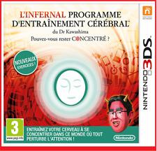 L'INFERNAL PROGRAMME D'ENTRAINEMENT CEREBRAL Nintendo 3DS 2Ds jeu video # NEUF #