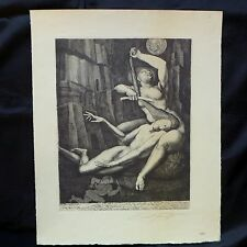 ERNST FUCHS WIEN; PHANTASTISCHER REALISMUS; DELILAH SCHNEIDET SAMSONS HAAR;1963