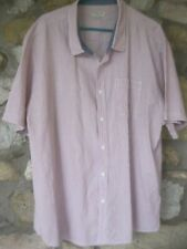 mens short sleeved shirt XXX LARGE Red/white striped Cotton