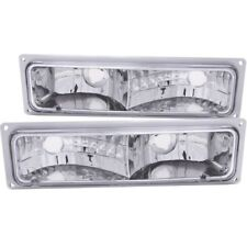 ANZO for 1988-1998 Chevrolet C1500 Euro Parking Lights Chrome - anz511032