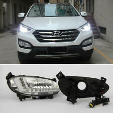LED DRL Daytime Running Lights DRL LED Lamp For Hyundai Santa Fe IX45 2013-2016