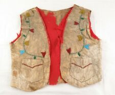 Antique Native American Leather Beaded Vest