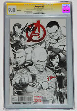 AVENGERS #1 CGC 9.8 SS 3X BY STAN LEE, PONSOR, MCNIVEN SKETCH VARIANT RARE 1:150