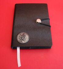 St Christopher Black A6 Travel Journal Notebook Safe Journey Travellers Gift