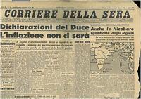 CORRIERE DELLA SERA 27 MARZO 1942  GIORNALI DI GUERRA